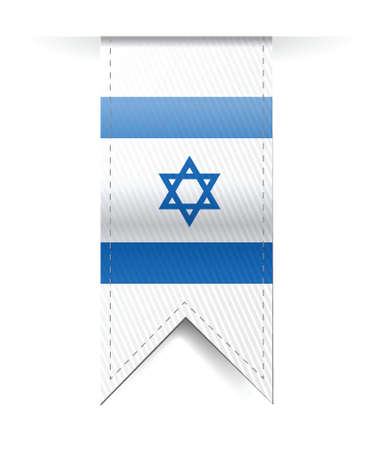 israel flag banner illustration design over a white background Vector