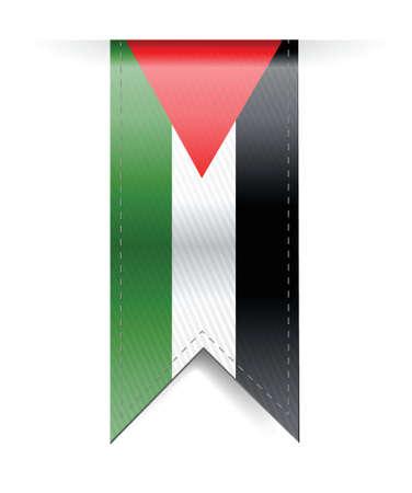 palestine: palestine flag banner illustration design over a white background