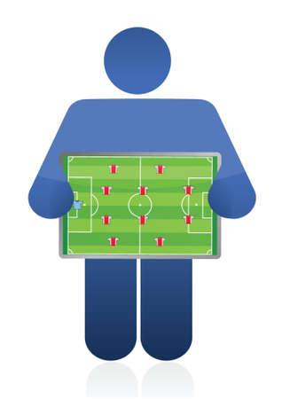soccer coach: soccer coach illustration design over a white background