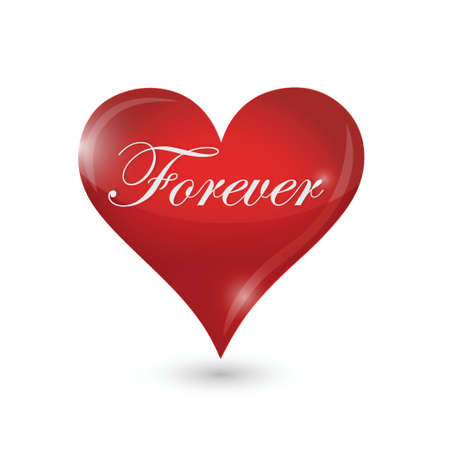 forever heart illustration design over a white background Illusztráció