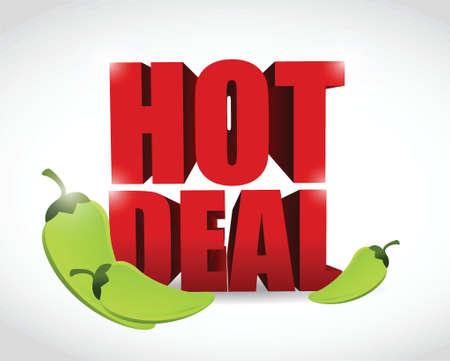 hot deal sign illustration design over a white background Illustration