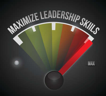 maximize: maximize leadership skills to the max illustration design over a black background Illustration
