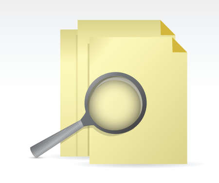 view icon: paper under review illustration design over a white background
