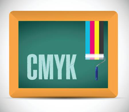 cmyk message sign illustration design over a white background Vector