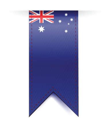 australia flag banner illustration design over a white background