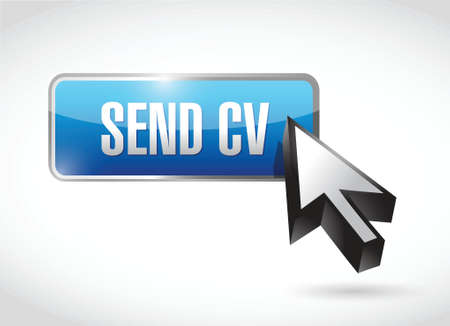 send cv button and cursor illustration design over a white background Vector