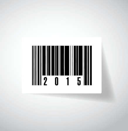 2015 barcode upc illustration design over a white background