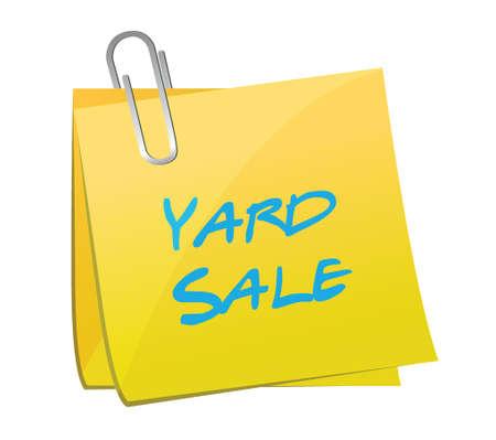 yard sale: yard sale post illustration design over a white background Illustration