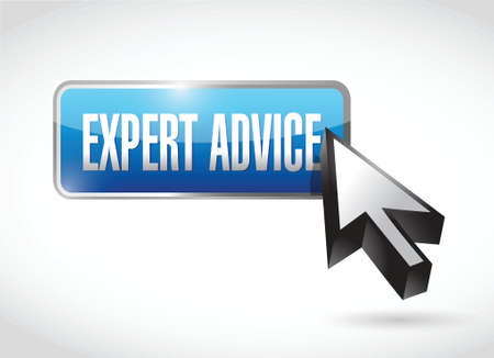 expert advice button illustration design over a white background Vector