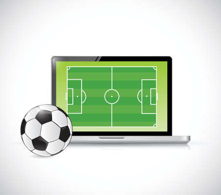 soccer goal: computer soccer concept illustration design over a white background