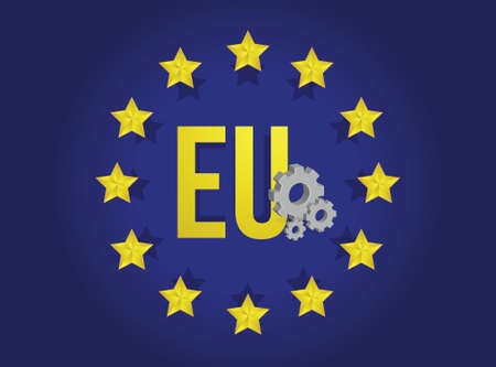 european union industrial flag illustration design background