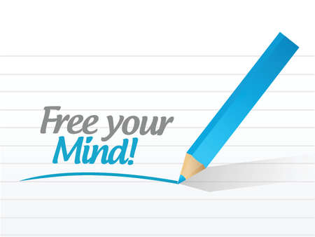 free your mind: free your mind message illustration design over a white background Illustration