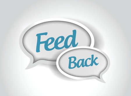 feedback: feedback message bubbles illustration design over a white background Illustration