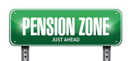 pension zone sign post illustration design over a white background Vector