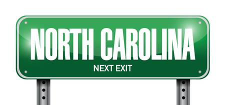 north carolina street sign illustration design over a white background Vector