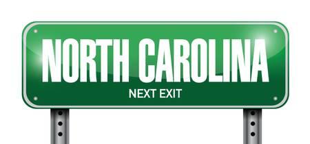 north carolina street sign illustration design over a white background