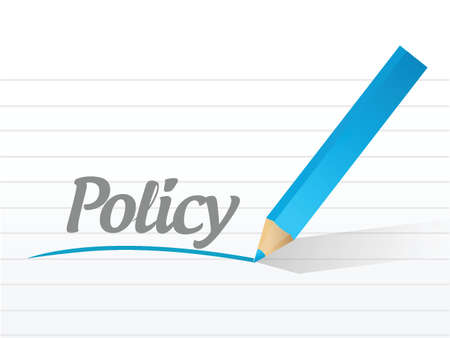 policy message post illustration design over a white background Stock fotó - 28280758