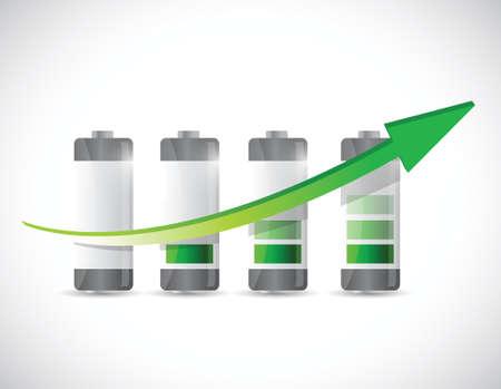 battery chart graph illustration design over a white background Illustration