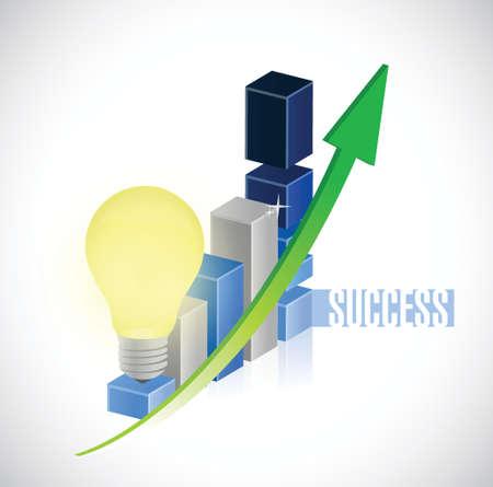 great business idea graph chart illustration design over a white background Illusztráció