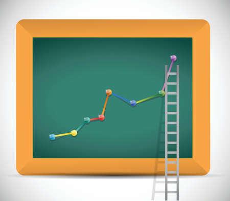 ladder to business profits illustration design over a white background Illusztráció