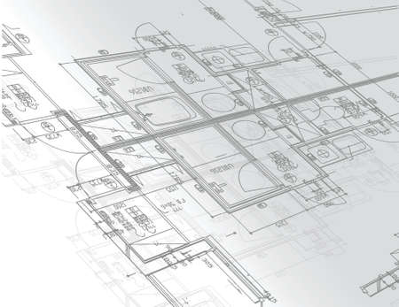 blueprints illustration design over a white background