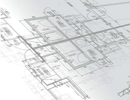 arquitecto: diseño de planos ilustración sobre un fondo blanco