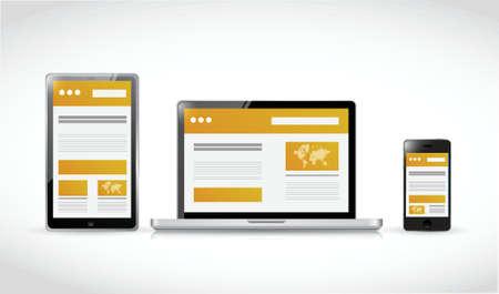 websites web responsive concept illustration design over a white background