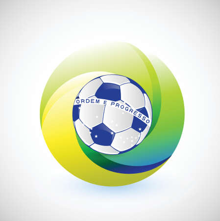 unique brazil soccer seal flag illustration design over a white background Vector