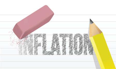 deleting: erase inflation concept illustration design over a white background Illustration