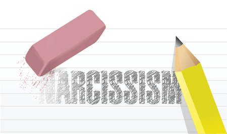 erase narcissism concept illustration design over a white background Vector