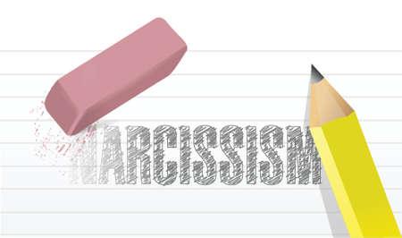 presumptuous: erase narcissism concept illustration design over a white background Illustration