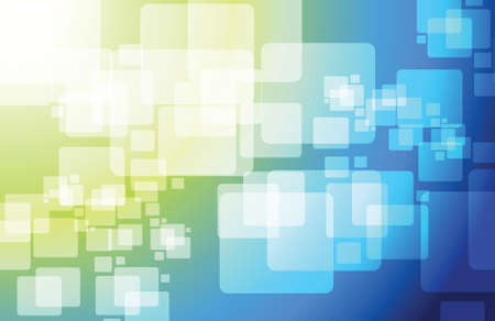 blue and green technology cubes modern illustration design graphic background Vector