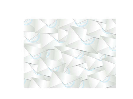 emails envelopes graphic illustration design white background Vector