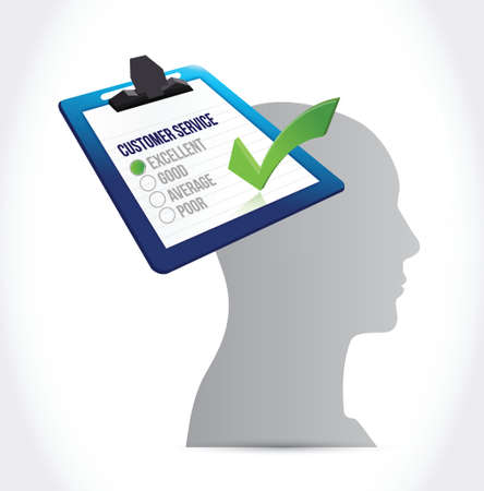 customer service on my mind concept illustration design over a white background Vector