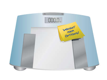 indecisive: weight your options balance concept illustration design over a white background Illustration