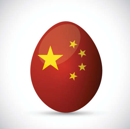 china flag egg illustration design over a white background Ilustração