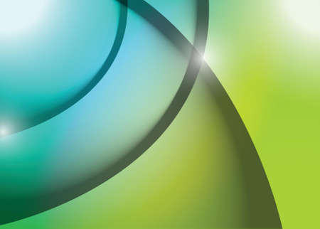 blue and green wave lines graphic illustration design background Illustration