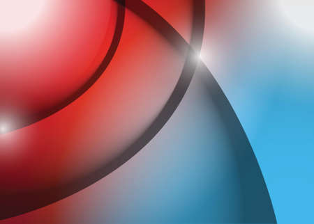 red and blue wave lines graphic illustration design background
