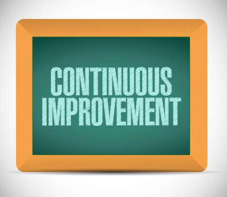 continuous improvement sign message illustration design over a white background illustration