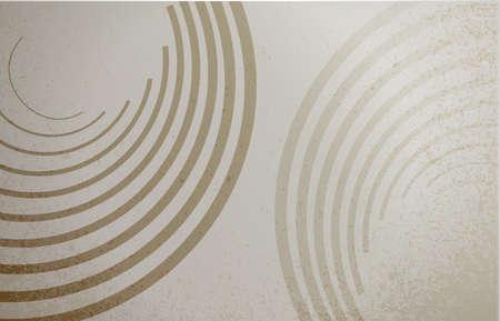 circular wave: brown circular wave lines graphic illustration design background Stock Photo