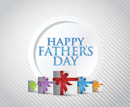 happy fathers day gift card illustration design over a white background Vector
