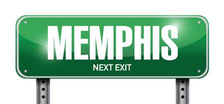 memphis: memphis signpost illustration design over a white background