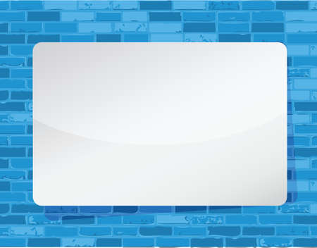 white board illustration design over a blue wall background