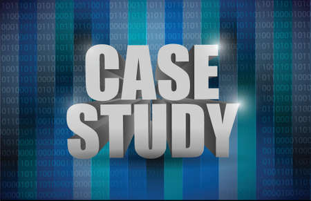 case: case study message illustration design over a binary background