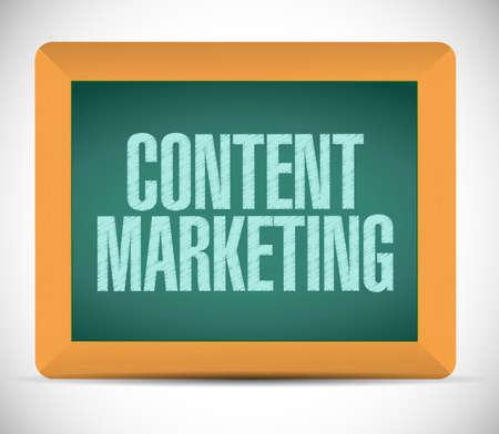 keywords link: content marketing sign message illustration design over a white background