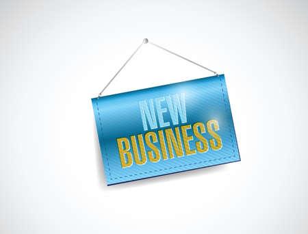 Nouvel accrochage d'affaires signe la conception d'illustration sur un fond blanc Banque d'images - 29257272
