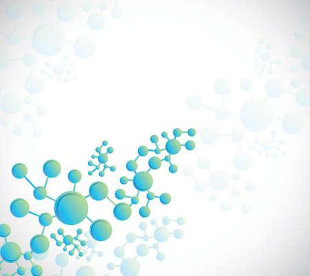 緑および青 dna 構造分子イラスト デザインの背景  イラスト・ベクター素材