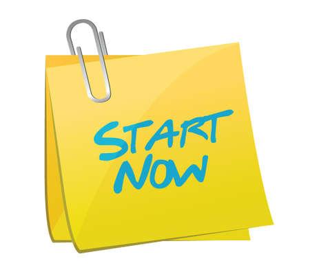 start now post message illustration design over a white background