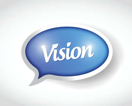 foresight: vision message bubble target illustration design over a white background