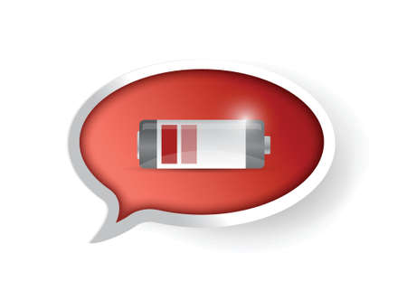 low battery message illustration design over a white background